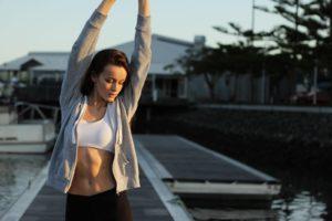 woman posing exercising